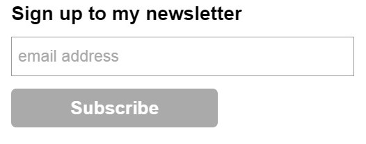 Newsletter signup 3